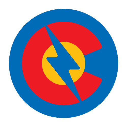 Luminous Electric Colorado C Lightning Symbol